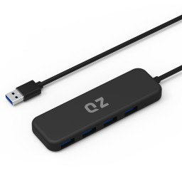 QZ USB3.1 4-Port Hub, 1 ft built-in cable, QZ-HB03